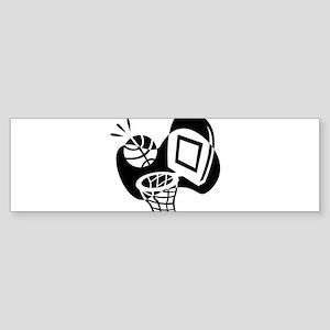 BASKETBALL *20* {black} Sticker (Bumper)
