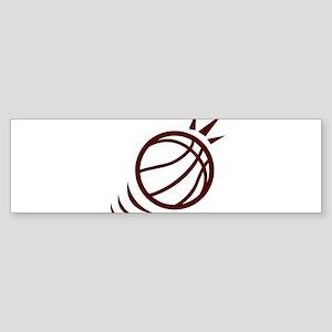 BASKETBALL *23* {crimson} Sticker (Bumper)
