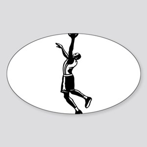 BASKETBALL *27* {black} Sticker (Oval)