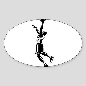 BASKETBALL *27* {black} Sticker (Oval)