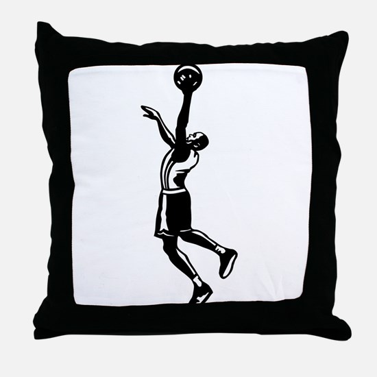 BASKETBALL *27* {black} Throw Pillow