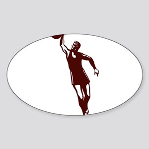 BASKETBALL *28* {crimson} Sticker (Oval)