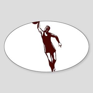 BASKETBALL *28* {crimson} Sticker (Oval)