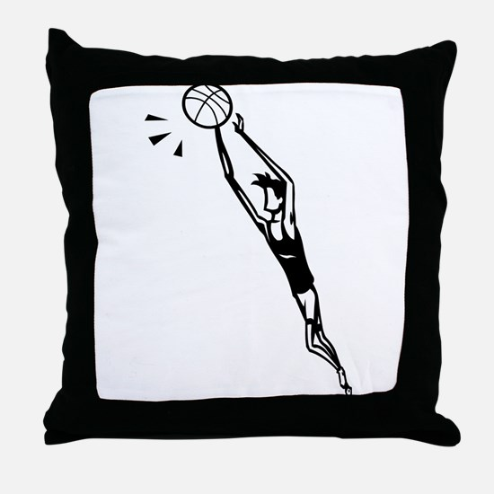 BASKETBALL *30* {black} Throw Pillow