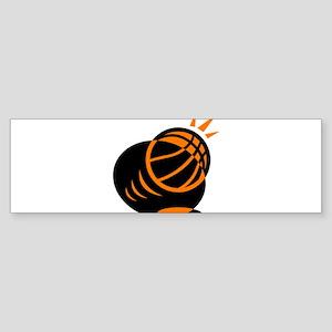 BASKETBALL *33* {orabge} Sticker (Bumper)