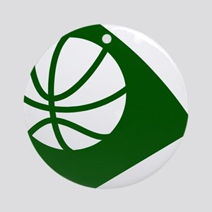 BASKETBALL *34* {green} Ornament (Round)