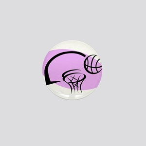 BASKETBALL *35* {purple} Mini Button