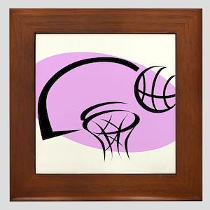 BASKETBALL *35* {purple} Framed Tile