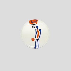 BASKETBALL *38* {orange/blue} Mini Button