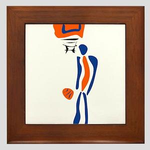 BASKETBALL *38* {orange/blue} Framed Tile