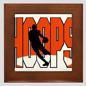 HOOPS *1* {orange} Framed Tile