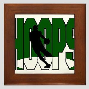 HOOPS *1* {green} Framed Tile