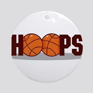 HOOPS *2* {crimson} Ornament (Round)