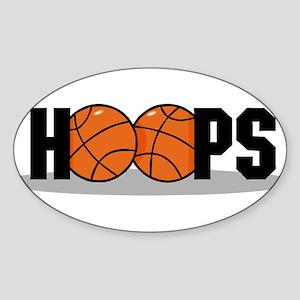 HOOPS *2* {black} Sticker (Oval)