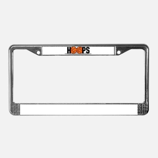 HOOPS *2* {black} License Plate Frame