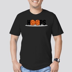 HOOPS *2* {black} Men's Fitted T-Shirt (dark)