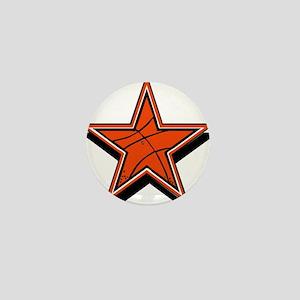 BASKETBALL STAR {orange} Mini Button