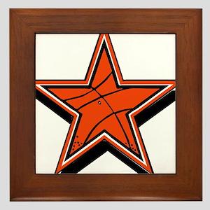 BASKETBALL STAR {orange} Framed Tile