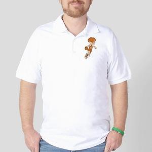 BASKETBALL *40* {lt orange} Golf Shirt