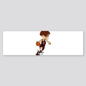 BASKETBALL *40* {crimson} Sticker (Bumper)