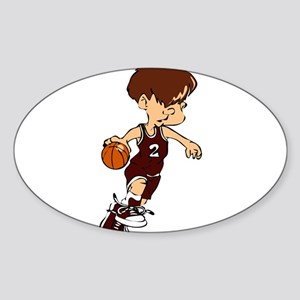 BASKETBALL *40* {crimson} Sticker (Oval)