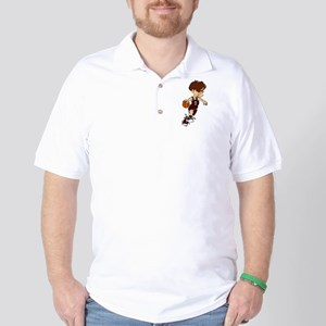 BASKETBALL *40* {crimson} Golf Shirt