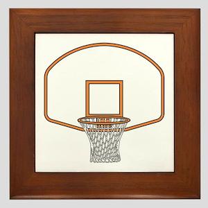 BASKETBALL *41* {orange} Framed Tile