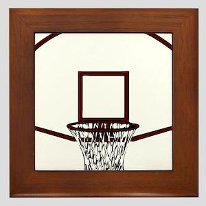 BASKETBALL *41* {crimson} Framed Tile