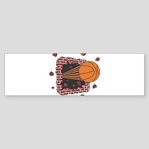 BASKETBALL *42* {orange} Sticker (Bumper)