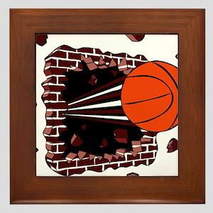 BASKETBALL *42* {cimson} Framed Tile