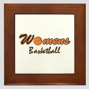 WOMENS BASKETBALL *1* {orange Framed Tile