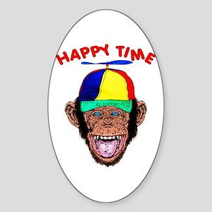 HAPPY TIME HYPNO CHIMP Sticker (Oval)