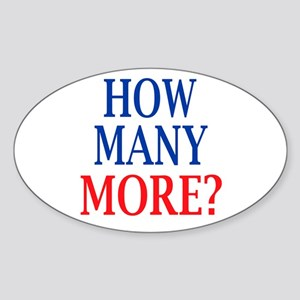 How Many More? Sticker (Oval)