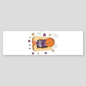 BASKETBALL *44* {purple} Sticker (Bumper)