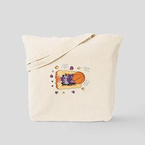 BASKETBALL *44* {purple} Tote Bag