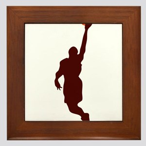 BASKETBALL *45* {crimson} Framed Tile