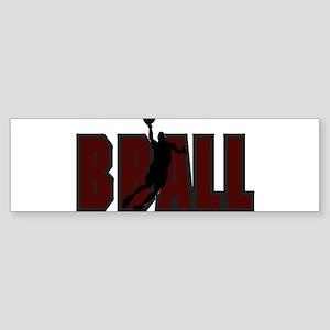 BBALL *1* {crimson} Sticker (Bumper)