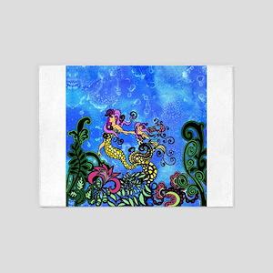 Mermaid Sisters 5'x7'Area Rug