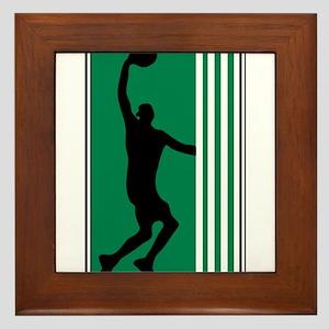 BASKETBALL *47* {green} Framed Tile