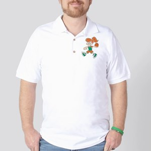 BASKETBALL *48* {orange/green Golf Shirt