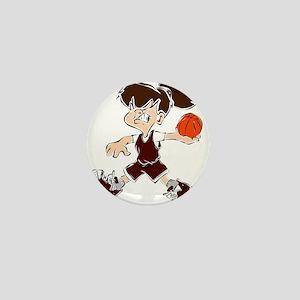 BASKETBALL *48* {crimson} Mini Button