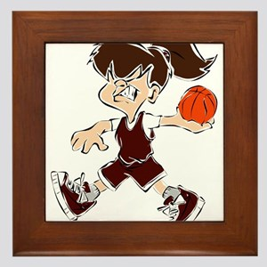 BASKETBALL *48* {crimson} Framed Tile