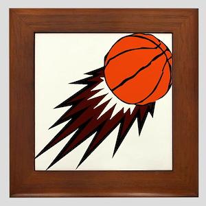BASKETBALL *49* {crimson} Framed Tile