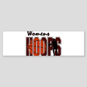 WOMENS HOOPS *1* {crimson} Sticker (Bumper)