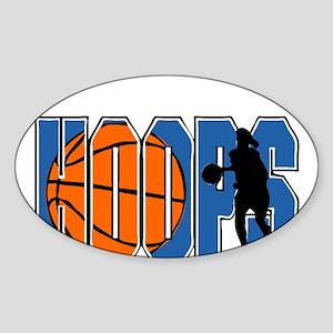 HOOPS *2* {blue} Sticker (Oval)