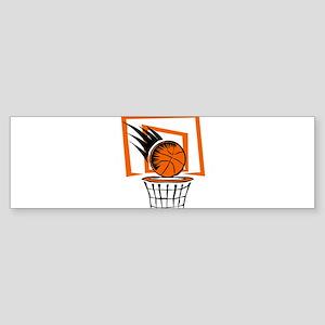 BASKETBALL *51* {orange} Sticker (Bumper)