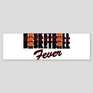 BASKETBALL FEVER {crimson} Sticker (Bumper)