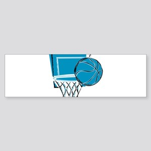BASKETBALL *52* {blue} Sticker (Bumper)
