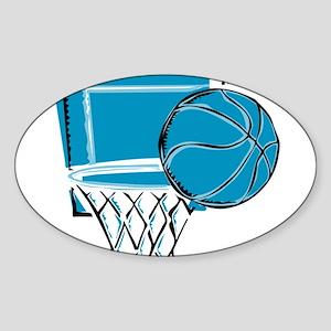 BASKETBALL *52* {blue} Sticker (Oval)
