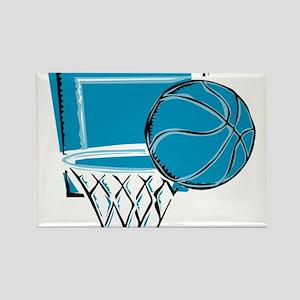 BASKETBALL *52* {blue} Rectangle Magnet